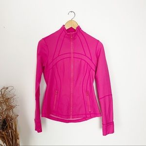 Lululemon Define Jacket Pink Denim Size 6
